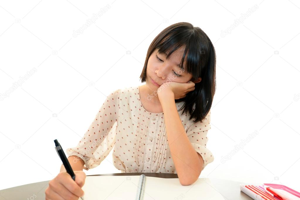 A teenage girl uneasy look — Stock Photo #19154675