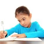 dziewczyna spędzać czas w badaniu — Zdjęcie stockowe