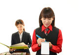 Working waitress — Stock Photo