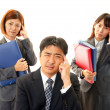 Depressed businessman and businesswomen — Stock Photo