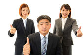 Asian business man and women — Stock Photo