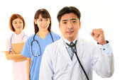 Smiling Asian medical staff — Foto Stock