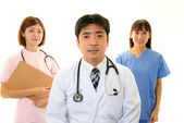 Smiling Asian medical staff — Stock Photo