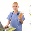 Stock Photo: Smiling medical doctor