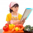 Girl cook — Stock Photo