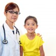 Asian medical doctor and child. — Stock Photo #22065661