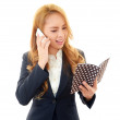 Mobile phone and woman. — Stock Photo #22252977