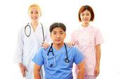 Gülümseyen tıp doktorları — Stok fotoğraf