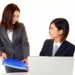 Businesswomen discussing plans — Stock Photo #22355569