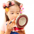 Little girl with makeup — Stock Photo #22600351