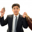 Smiling Asian businessman — Stock Photo