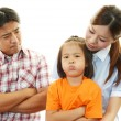 Unhappy family — Stock Photo