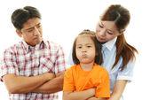 Unhappy family — Stock Photo