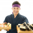 Portrait of a sushi chef — Stock Photo #28829863