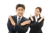 Dissatisfied businessman and businesswoman — Stock Photo