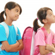 Dissatisfied girls — Stock Photo