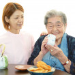 Senior woman with her home caregiver — Stock Photo #29822975