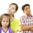 Foto Stock: Unhappy family