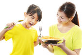 Child with meal — Stock Photo