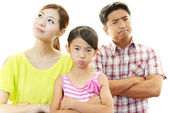 愤怒的家庭 — 图库照片