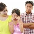 Parents scolding child — Stock Photo