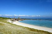 Blå havet och himlen i okinawa — Stockfoto
