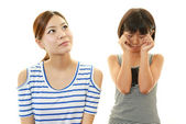 Unhappy mother and daughter — Stock Photo