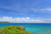 The blue sea and sky in Okinawa — Stock Photo