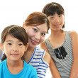 Smiling children with mother — Stock Photo #30985133