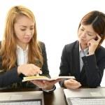 Businesswomen discussing plans — Stock Photo #31907385
