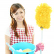 Woman with a cleaning — Stock Photo