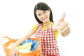 Smiling housewife — Stock Photo
