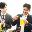 Stock Photo: Men drinking beer
