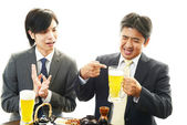 Men drinking beer — Stock Photo