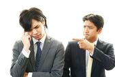 Unhappy businessmen — Stock Photo