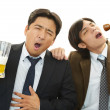 Stock Photo: Drunk businessmen with beer