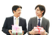 Smiling businessmen — Stock Photo