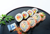 Japanese cuisine Sushi — Stock Photo