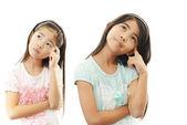 Thinking girls — Stock Photo