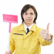 Stock Photo: Janitorial cleaning service