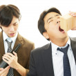 Men drinking Sake — Stock Photo