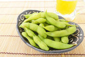 Green soybeans — Stock Photo