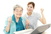 Smiling old woman — Stock Photo