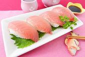 Japanese cuisine Sushi — Stock Photo