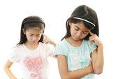 Depressed girls — Stock Photo