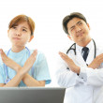 Постер, плакат: Worried doctor and nurse