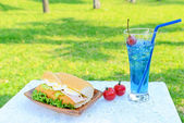 Lunch in the garden — Stock Photo