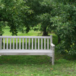 White bench — Stock Photo #18370765