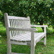 White bench — Stock Photo #18370799