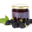 Jam and Berries — Stock Photo